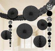 Dekorační sada místnosti černá