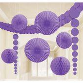 Dekorační sada místnosti purpurová