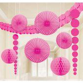 Dekorační sada místností růžová