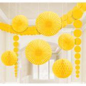 Dekorační sada místnosti žlutá