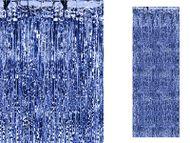 Dlouhá párty opona modrá