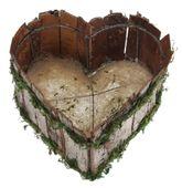 Dřevěný košík Srdce