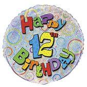 Fóliový balónek ´´ 12 ´´ Happy Birthday