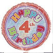 Fóliový balónek ´´ 4 ´´ Happy Birthday
