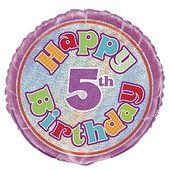 Fóliový balónek ´´ 5 ´´ Happy Birthday