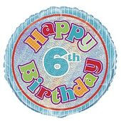Fóliový balónek ´´ 6 ´´ Happy Birthday