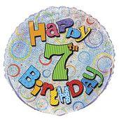 Fóliový balónek ´´ 7 ´´ Happy Birthday