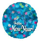 Fóliový balónek New year blue lights