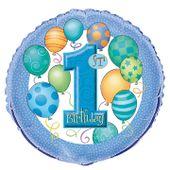 Fóliový balónek 1.narozeniny chlapeček