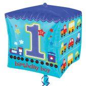 Fóliový balónek kostka 1.narozeniny B-day Boy