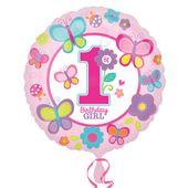 Fóliový balónek 1.narozeniny B-day Girl