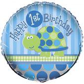 Fóliový balónek 1.narozeniny želva