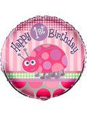 Fóliový balónek 1.narozeniny beruška