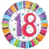"""Fóliový balónek """"18"""" Radiant Birthday"""
