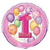Fóliový balónek 1.narozeniny holčička