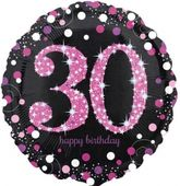 Fóliový balónek 30 Pink Diamonds