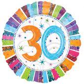 """Fóliový balónek """"30"""" Radiant Birthday"""