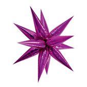 Fóliový balónek 3D hvězda růžový