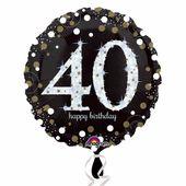 Fóliový balónek ´´40´´ Gold Diamonds