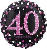 Fóliový balónek 40 Pink Diamonds