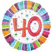 """Fóliový balónek """"40"""" Radiant Birthday"""