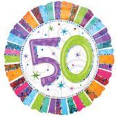 """Fóliový balónek """"50"""" Radiant Birthday"""