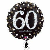 Fóliový balónek ´´60´´ Gold Diamonds