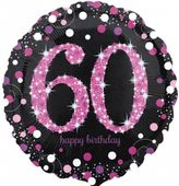 Fóliový balónek 60 Pink Diamonds
