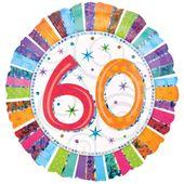 """Fóliový balónek """"60"""" Radiant Birthday"""