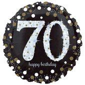 "Fóliový balónek ""70"" Gold Diamonds"