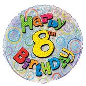 Fóliový balónek ´´ 8 ´´ Happy Birthday