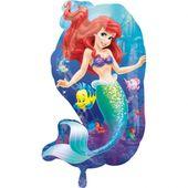 Fóliový balónek supershape Ariela mořská panna
