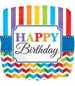 Fóliový balónek Birthday Bright Rainbow