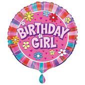 Fóliový balónek Birthday Girl