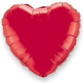 Fóliový balónek srdce červené