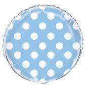Fóliový balónek dots baby blue