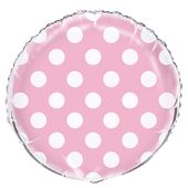 Fóliový balónek dots baby pink