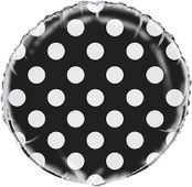 Fóliový balónek dots černý