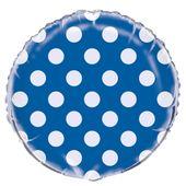 Fóliový balónek dots modrý