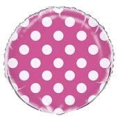 Fóliový balónek dots hot pink