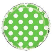 Fóliový balónek dots limetkový