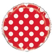 Fóliový balónek dots červený