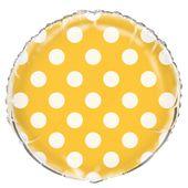 Fóliový balónek dots žlutý