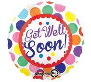 Fóliový balónek Get well soon Dots