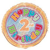 Fóliový balónek ´´ 2 ´´ Happy Birthday