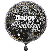 Fóliový balónek Happy Birthday Glittering