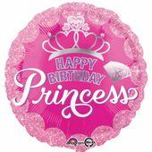 Fóliový balónek Happy Birthday Princess