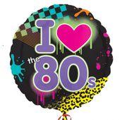 Fóliový balónek I love 80's Disco