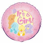 Fóliový balónek IT'S a girl zvířátka