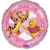Fóliový balónek It's a girl Medvídek Pu